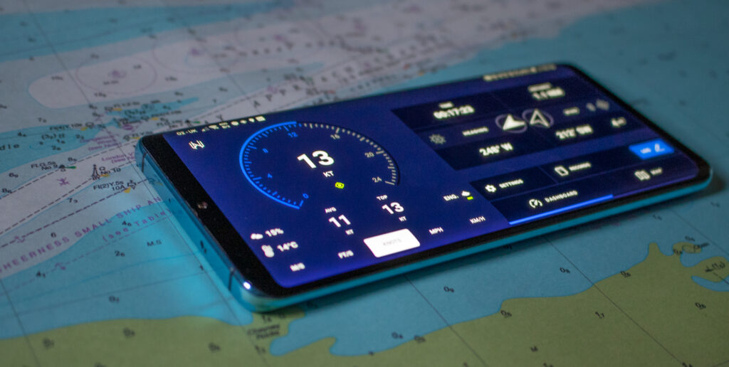 Mariner GPS Dashboard 3.3.+ for Android in landscape mode