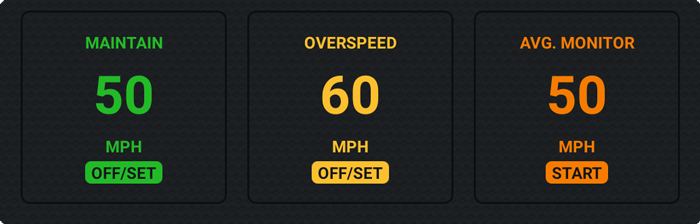 Speed guidance panel, Velocity GPS Dashboard for Android and Wear OS