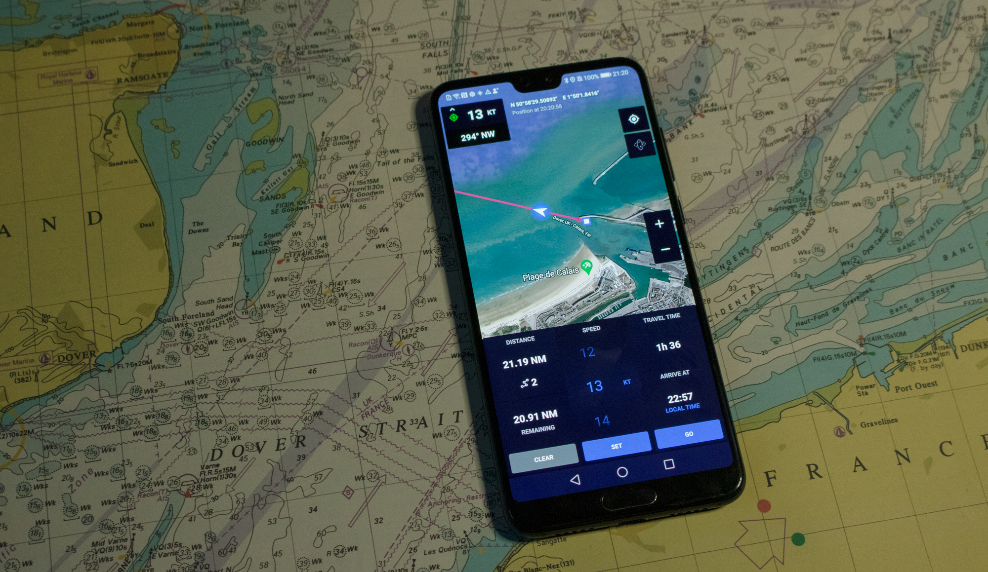 Travel Time Calculation with Mariner GPS Dashboard 3.5